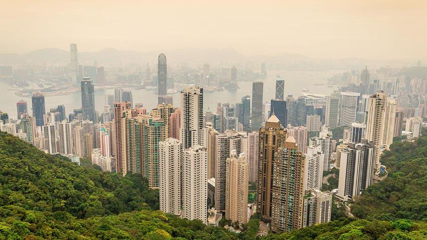 view from Hong Kong Peak
